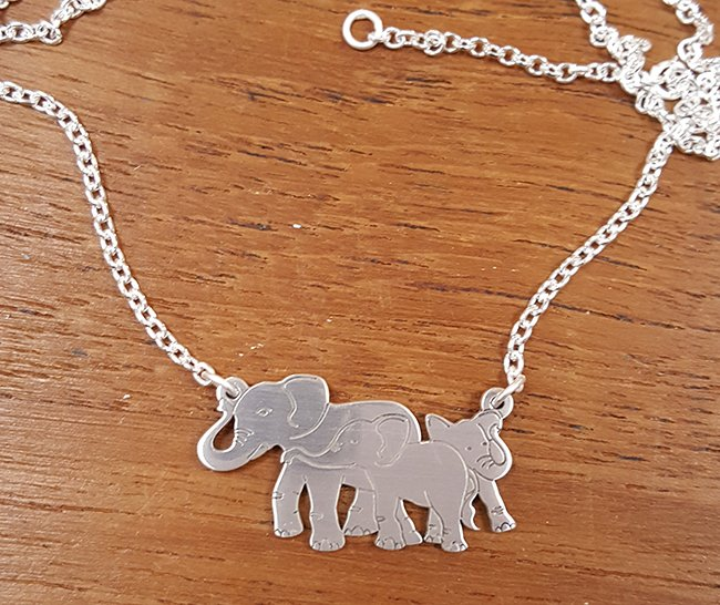 Elephant family pendant