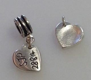 Fine silver fingerprint charms 2