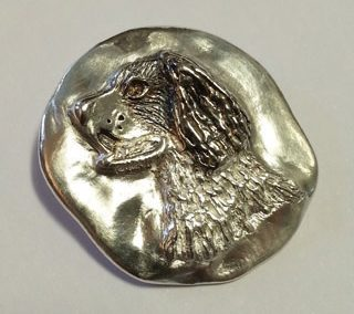 Fine silver spaniel pendant