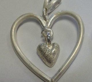 Sterling heart adaptation pendant