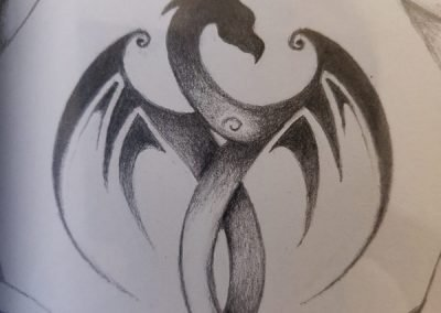 Original dragon sketch from customer