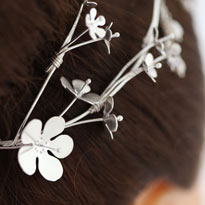 Wedding Tiara in solid silver