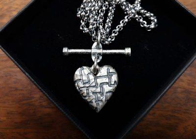 industrial grunge heart pendant
