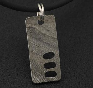patterned damascus pendant for men