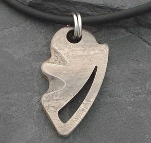 Layered steel pendant for men