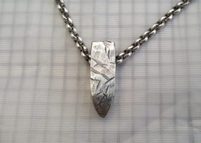 mens rugged grunge pendant silver