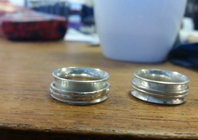 Finished rings from the 1-day workshop