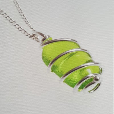 Silver wrapped glass bead