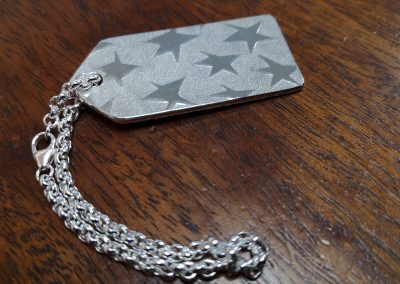 star spangled keyring tag