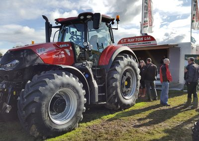 tractor at the show grounds